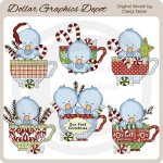 Little Chirps - Christmas Tea - Clip Art