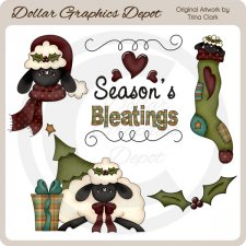 Christmas Sheep 1 - Clip Art