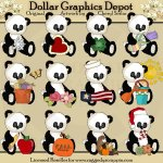 Seasonal Calendar Pandas - Clip Art