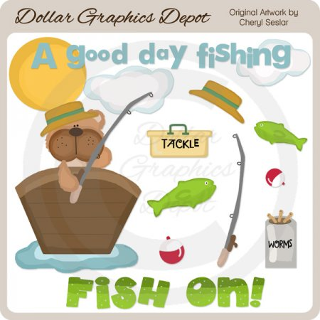 A Good Day Fishing - Clip Art