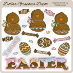 Chocolate Easter 2 - Clip Art