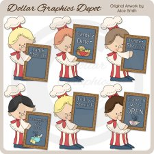 Restaurant Chef - Clip Art - *DCS Exclusive*