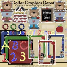 First Day Of School Scrap Kit