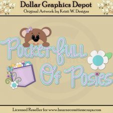 Spring Bear 8 - Cutting Files / Paper Piecing - *DGD Exclusive""