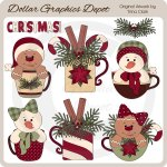 Christmas Mugs 2 - Clip Art