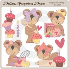 Baking Bears - Clip Art
