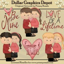 Lovey Dovey Couples - Clip Art