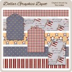 Little Miss Patriot - Borders and Tags