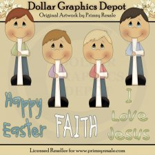 Boys of Faith - Clip Art