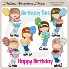 Teen Birthday Girls - Clip Art - *DCS Exclusive*