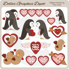 My Feathered Valentine - Clip Art