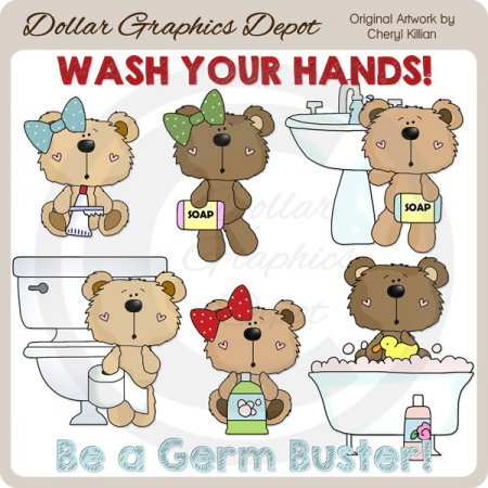 Coco Bears - Germ Busters - Clip Art - *DGD Exclusive*