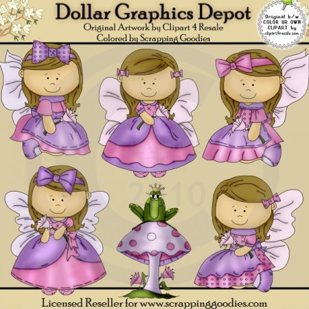 Butterfly Angels 1 - Clip Art