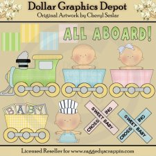 Baby Crossing - Clip Art - *DGD Exclusive*