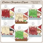 Christmas Candles 1 - Clip Art - *DGD Exclusive*