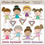 Little Gymnast - Clip Art
