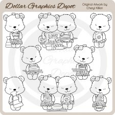 Tropical Bears - Sushi Night - Digital Stamps - *DGD Exclusive*