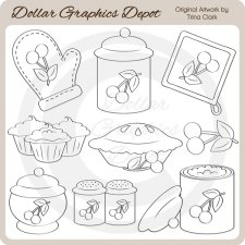 Baking Day 1 - Digital Stamps