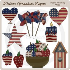 Americana Accents - Clip Art - *DCS Exclusive*