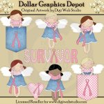 Breast Cancer Awareness Angels - Clip Art
