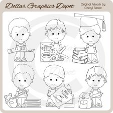 Linus and Pals - School - Digital Stamps