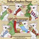Peppermint Polar Bear's Stockings