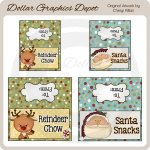 Christmas Snacks Bag Toppers