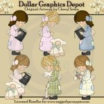Christian Country Girls - Clip Art - *DGD Exclusive*