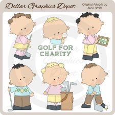 Golfers - Clip Art - *DGD Exclusive*