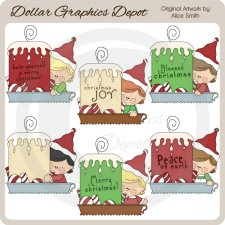 Christmas Candles 1 - Clip Art - *DCS Exclusive*