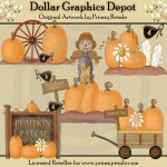 Pumpkin Patch - Clip Art