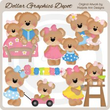 Little Bear - Sisters - Clip Art