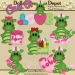Color of Love Dragons - Clip Art - *DGD Exclusive*
