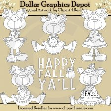 Fall Bears - Digital Stamps - *DGD Exclusive*