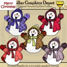 Happy Snowmen - Clip Art
