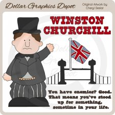 Winston Churchill - Clip Art