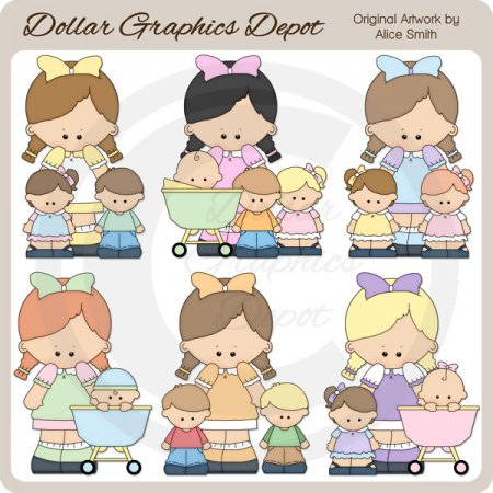 Babysitter 1 - Clip Art - *DGD Exclusive*