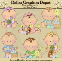 Sweet Dumplin's First Easter - Clip Art