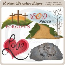 God Is My Rock - Clip Art