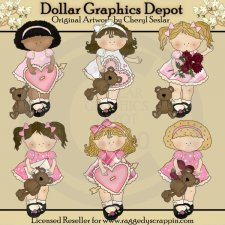 My Little Girl - Valentines - Clip Art