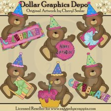 Celebration Bears 2 - Clip Art