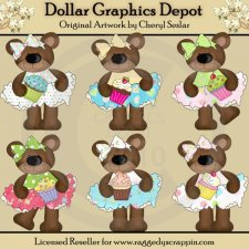 Cupcake Bears - Clip Art - *DGD Exclusive*