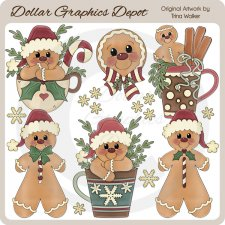 Never Enough Christmas Gingerbread 1 - Clip Art