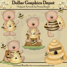 Bumbley Bears - Clip Art