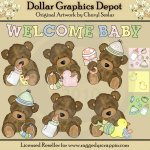 Sweet Baby Bears - Clip Art - *DGD Exclusive*