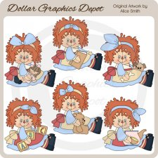 Raggedy Playtime - Clip Art - *DGD Exclusive*