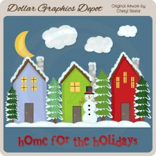 Home For The Holidays - Clip Art