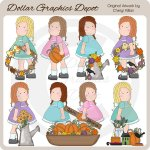 Gertie Lou - Autumn Blessings - Clip Art