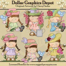 Agnus In The Flowers - Clip Art