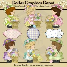 Annabelle's Easter Baskets - Clip Art
